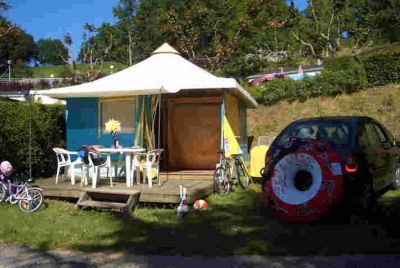 Location Bungalow Toilé 4 Personnes - Camping Beau Rivage****-1