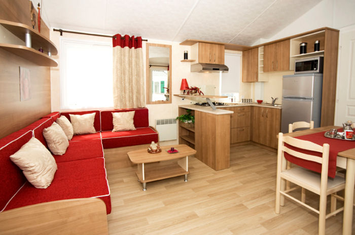 Location Mobil Home Excellence Luxe 6/7 Personnes - Camping Le Moulin de Kermaux***-3